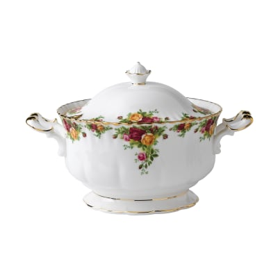 "Royal Albert ""Old Country Roses"" Soup Tureen"