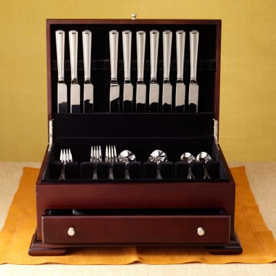 Wallace Flatware Chest in Walnut