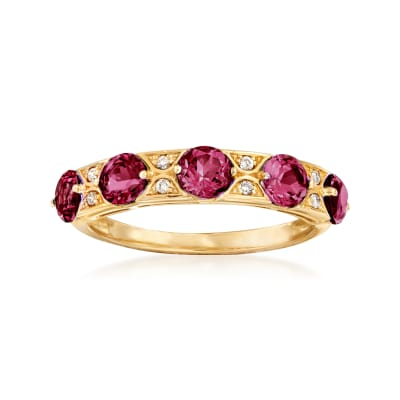1.60 ct. t.w. Rhodolite Garnet Ring in 14kt Yellow Gold