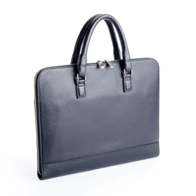 """Royce """"Executive Office"""" Black Leather Laptop Brief"""