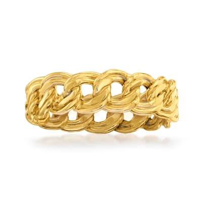 Italian 14kt Yellow Gold Link Ring