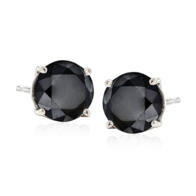 2.00 ct. t.w. Black Diamond Stud Earrings in Sterling Silver