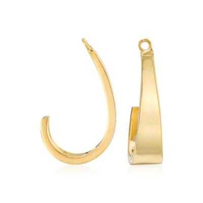 14kt Yellow Gold J-Hoop Earring Jackets