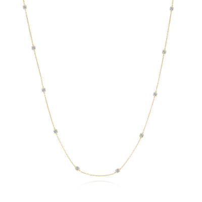 3.40 ct. t.w. Diamond Station Necklace in 14kt Yellow Gold