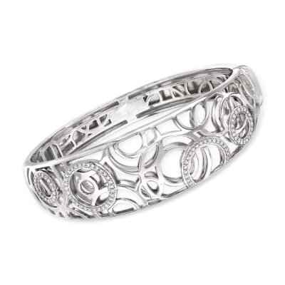 "Belle Etoile ""Celestia"" .48 ct. t.w. CZ Bangle Bracelet in Sterling Silver"