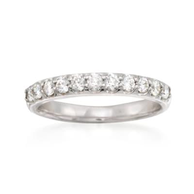 .55 ct. t.w. Diamond Wedding Ring in 14kt White Gold
