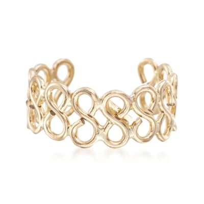 14kt Yellow Gold Infinity Single Ear Cuff