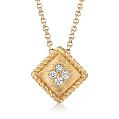 "Roberto Coin ""Palazzo Ducale"" Diamond-Accented 18kt Yellow Gold Necklace"