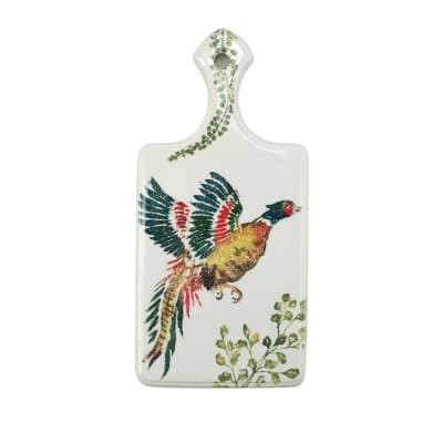 "Vietri ""Fauna"" Pheasants Cheeseboard from Italy"