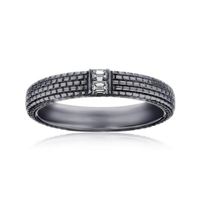 Men's .12 ct. t.w. Diamond Wedding Ring in 14kt White Gold