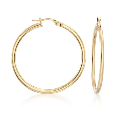 Roberto Coin 35mm 18kt Yellow Gold Hoop Earrings
