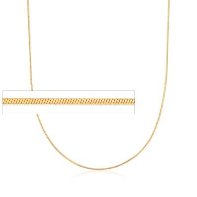 Italian 1mm 24kt Gold Over Sterling Adjustable Slider Snake Chain Necklace