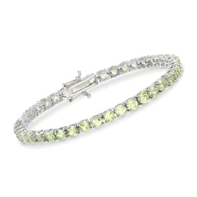 16.00 ct. t.w. Peridot Tennis Bracelet in Sterling Silver