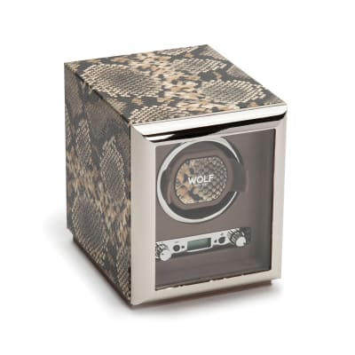 "Wolf ""Exotic"" Tan Leather Single Watch Winder"