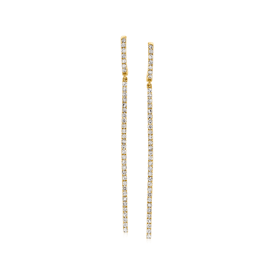 .50 ct. t.w. Diamond Linear Drop Earrings in 14kt Yellow Gold