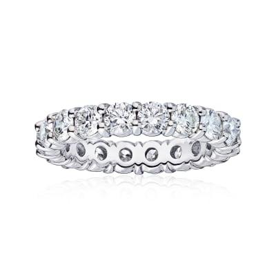 4.55 ct. t.w. Diamond Wedding Eternity Band in 14kt White Gold