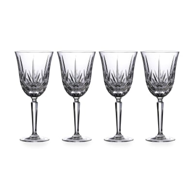 "Marquis by Waterford Crystal ""Maxwell"" Set of 4 Goblets from Italy"