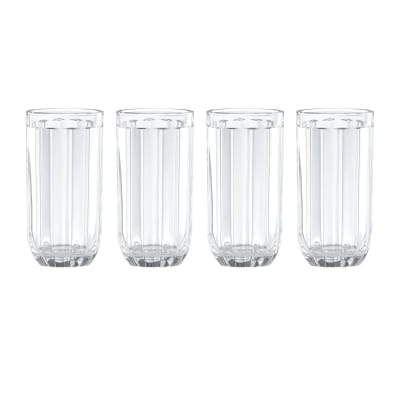 "Kate Spade New York ""Park Circle"" Set of 4 Highball Glasses"