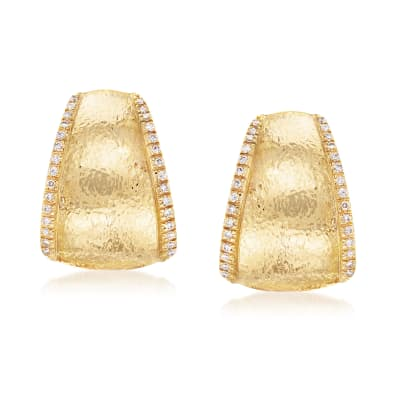Mazza .30 ct. t.w. Diamond Earrings in 14kt Yellow Gold