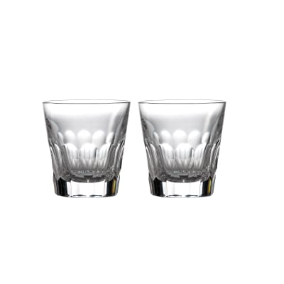 "Waterford Crystal ""Icon"" Set of 2 Double Old-Fashioned Glasses"