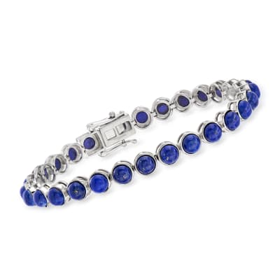Lapis Tennis Bracelet in Sterling Silver