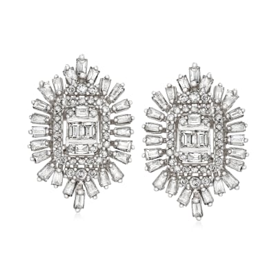 1.50 ct. t.w. Diamond Earrings in 14kt White Gold