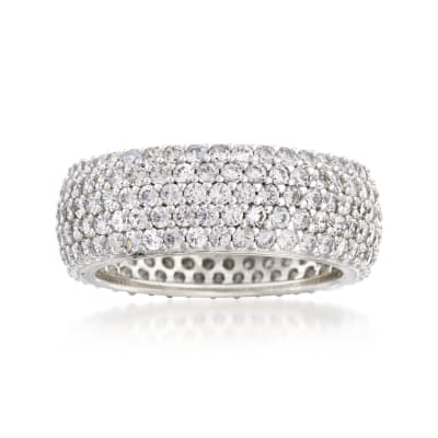 3.25 ct. t.w. CZ Eternity Band in Sterling Silver