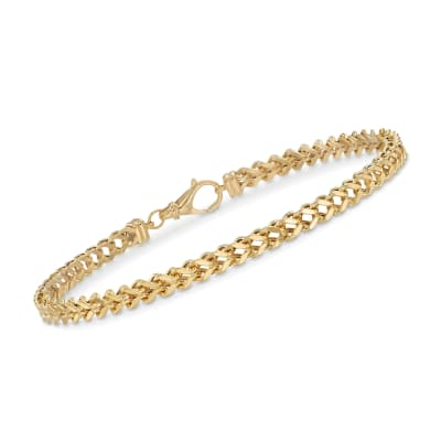Men's 14kt Yellow Gold Franco Link Bracelet