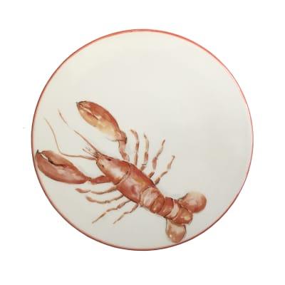 "Abbiamo Tutto ""Lobster"" Ceramic Trivet/Cheeseboard from Italy"