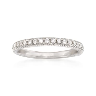 .31 ct. t.w. Diamond Wedding Ring in 14kt White Gold