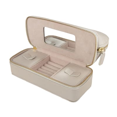 "Brouk & Co.'s ""Abby"" Pearl White Faux Leather Travel Organizer"