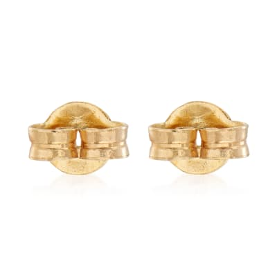 Italian 14kt Yellow Gold Medium 5mm Earring Backings
