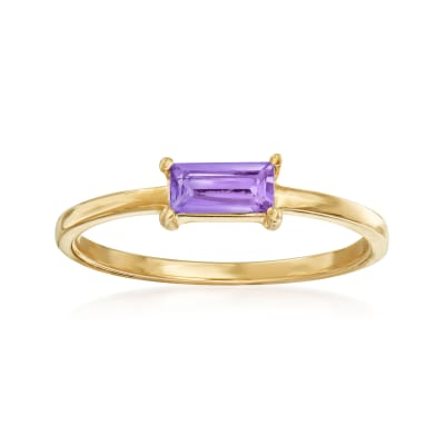 Italian .30 Carat Amethyst Ring in 14kt Yellow Gold