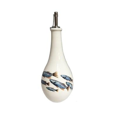 """Abbiamo Tutto """"School of Fish"""" Ceramic Oil Cruet from Italy"""