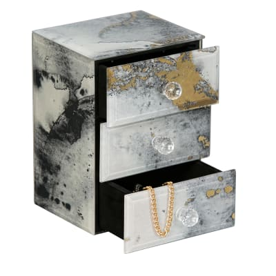 "Mele & Co. ""Maura"" Marbled Glass Jewelry Box"