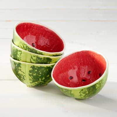 Bordallo Pinheiro Watermelon - Set of Four Bowls