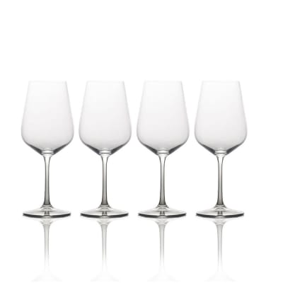 "Mikasa ""Gianna"" Set of 4 Ombre Smoke Red Wine Glasses"