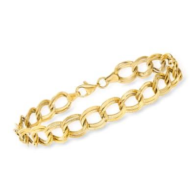 14kt Yellow Gold Double-Link Bracelet