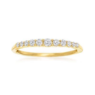 .25 ct. t.w. Diamond Graduated Ring in 14kt Yellow Gold