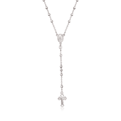 Sterling Silver Rosary  Beads with Cross