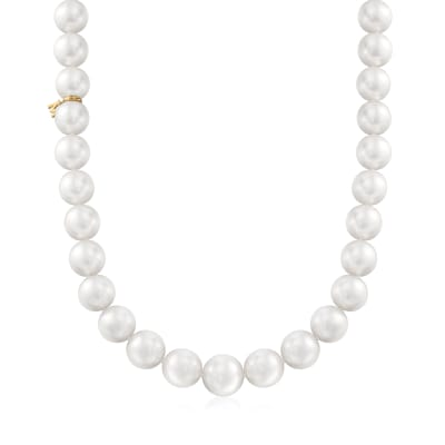 Mikimoto 11-13.5mm A+ South Sea Pearl Necklace with 18kt White Gold and Diamond Accent