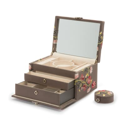 "Wolf ""Zoe"" Mink Velvet Medium Jewelry Box"
