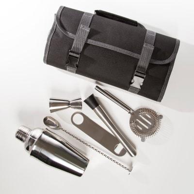 Brouk & Co. Stainless Steel Traveling Bartender Set
