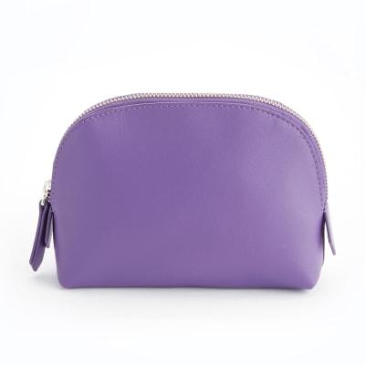 Royce Purple Leather Cosmetic Case