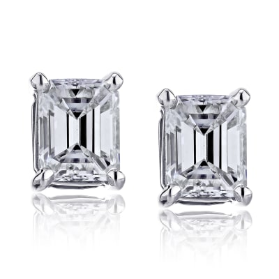 1.40 ct. t.w. Diamond Stud Earrings in 14kt White Gold