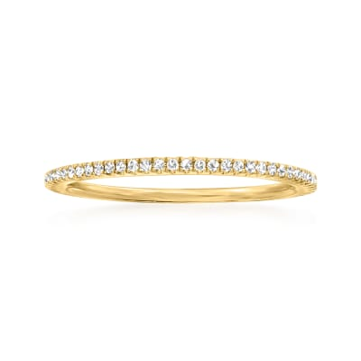 .18 ct. t.w. Diamond Stackable Eternity Band in 14kt Yellow Gold