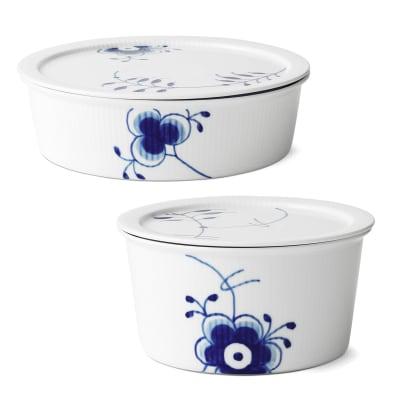 """Royal Copenhagen """"Blue Fluted Mega"""" Porcelain Dish with Lid"""