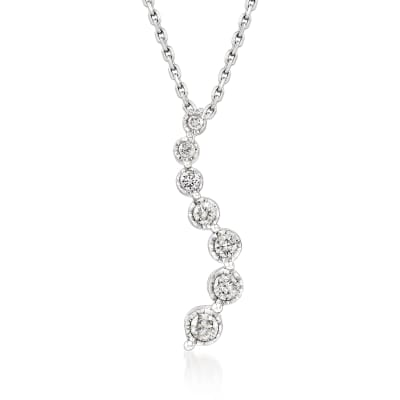 .50 ct. t.w. Diamond Journey Pendant Necklace in Sterling Silver