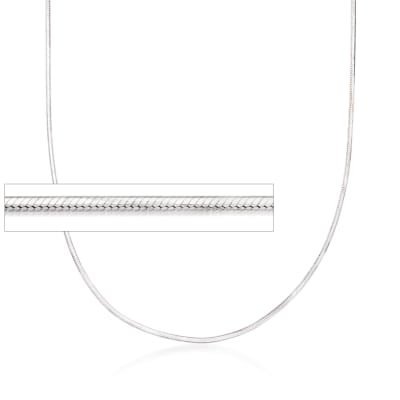 Italian 1.2mm Sterling Silver Adjustable Slider Square Snake Chain Necklace
