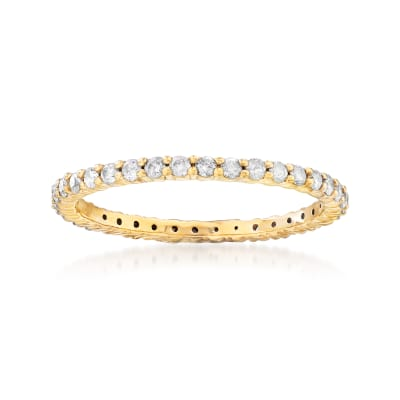 .50 ct. t.w. Diamond Eternity Band in 18kt Gold Over Sterling